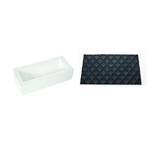 silikomart 25.053.99.7360 Kit bûche matelassé, Blanc, 25 x 9 x 7 cm