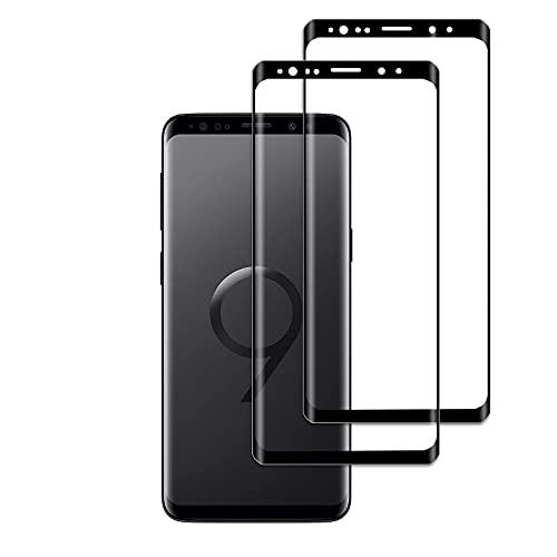 [2 Pezzi]Protezione Schermo, Compatibile con Samsung Galaxy S9, Pellicola Protettiva in Vetro Temperato Anti Graffio, Anti-Impronte, Durezza 9H, Ultra Trasparente, Ultra Resistente