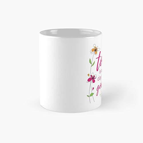 Taza clásica de hoy es un buen día, el mejor regalo divertido tazas de café 11 oz