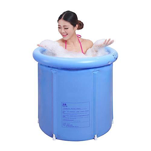 RKRZLB Portable Bathtub Tragbare Kunststoff Badewanne Große, japanische Badewanne für Duschkabine, aufblasbare Flexible Erwachsenengröße faltbar blau
