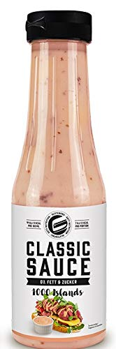 Got7 Classic Sauce - Karlorienfreie Würz, Grill und Salatsauce - Perfekt Zur Diät Abnehmen (1000 Island, 350ml)