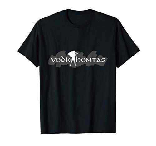 Vodkahontas Wodka Gin Rum Schnaps Kurze Trinken Saufen T-Shirt