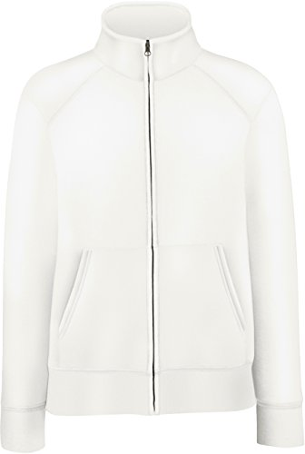 Fruit of the Loom - Lady-Fit Sweat Jacket - Modell 2013 / White, S S,White