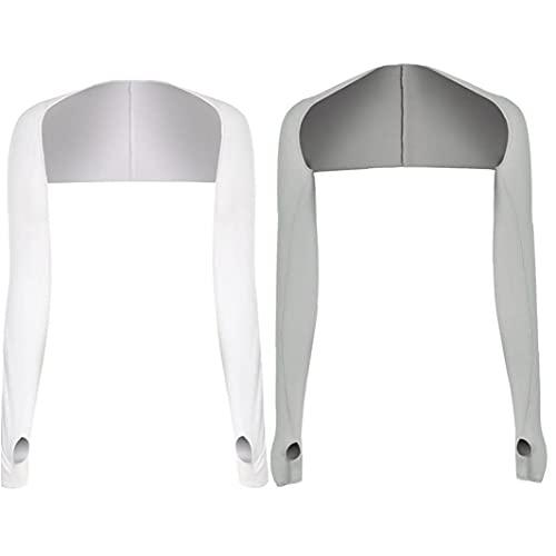 Onsinic 2pcs Verano De Refrigeración Mantón Mangas del Brazo De Protección Solar con Agujero De Dedo para Jugar Que Conduce a Caballo Pesca