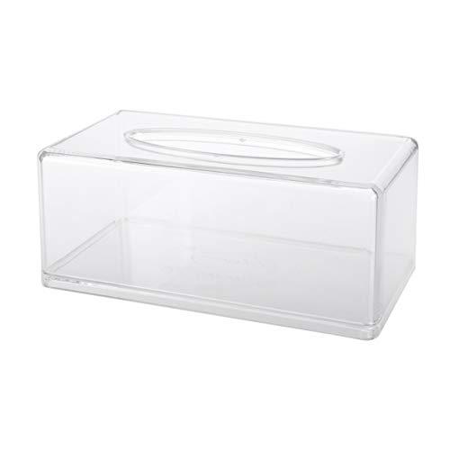 TRIXES gro/ße transparente rechteckige Tissue Box aus Acryl Kosmetiktuch Spender Halter