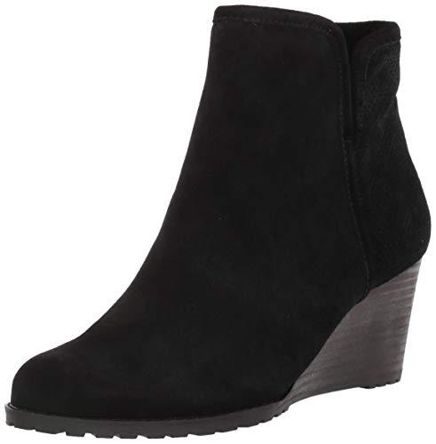 Rockport Women's Hollis Vcut Bootie Ankle Boot, Black, 6.5 M US