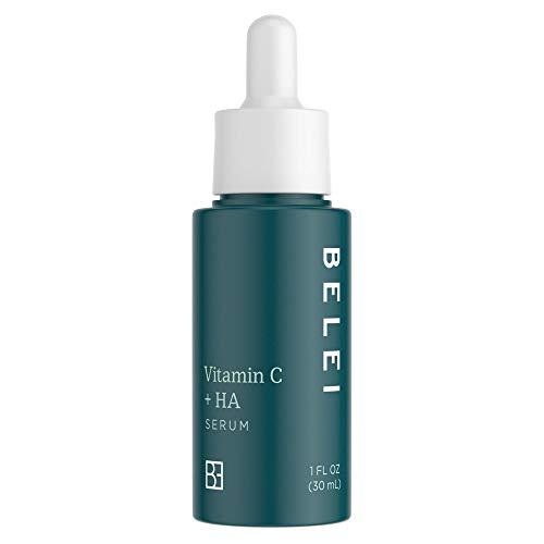 Belei Vitamin C + Hyaluronic Acid Serum, Fragrance Free, Paraben Free, 1 Fluid Ounce (30 mL)