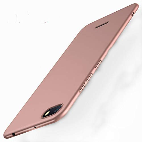 EYYC Xiaomi Redmi 6A Funda, Cubierta Delgado Caso de PC Hard Gel Funda Protective Case Cover para Xiaomi Redmi 6A Smartphone (Oro Rosa)