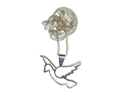 Miniblings Taube Kette Halskette 45cm Vogel Friedenstaube Peace Echtsilber 925 Silber Sterling