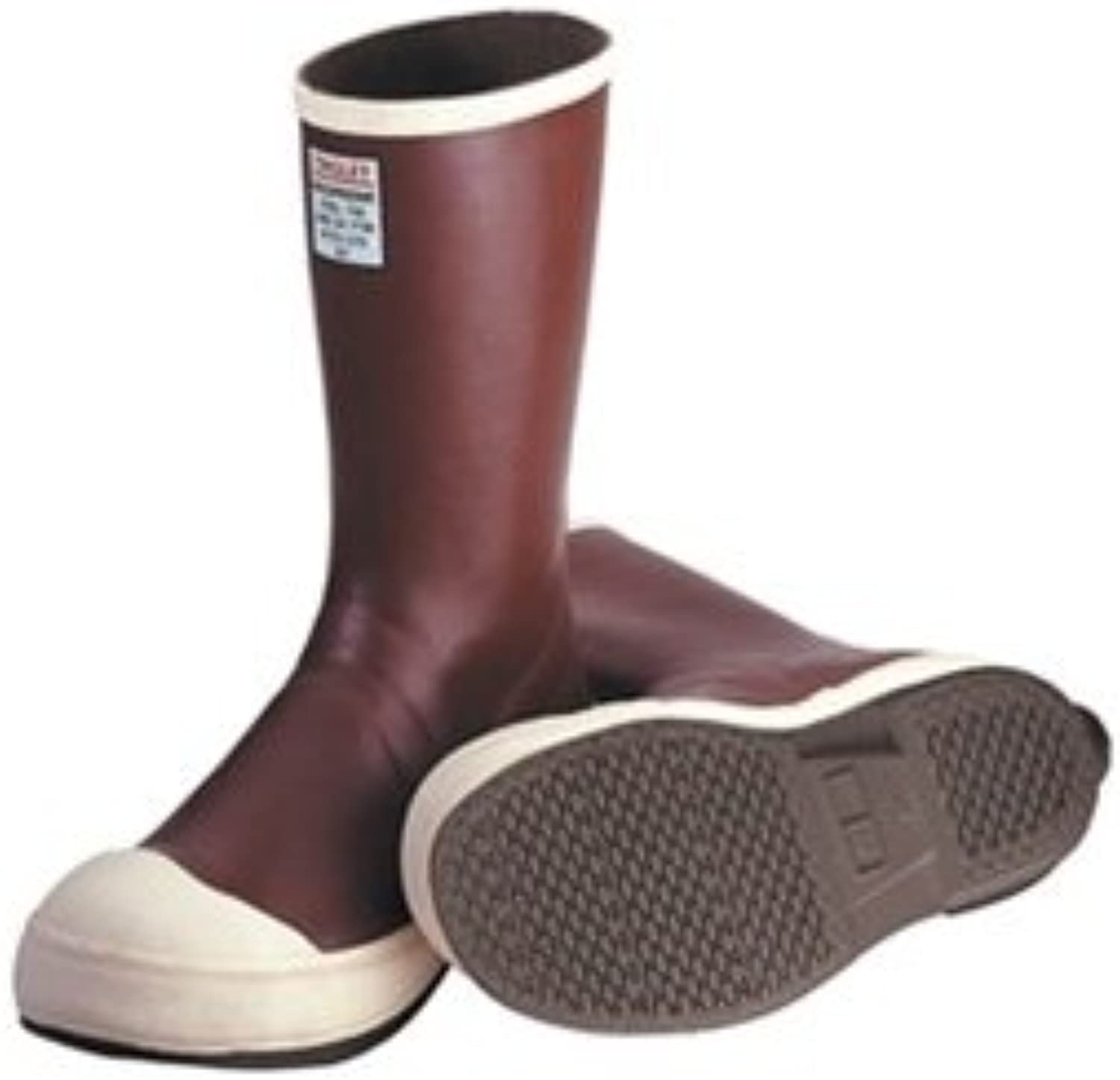 TINGLEY MB924B.14 12-1 2  Safety-Loc Outsole Neoprene Boot with Fabric Liner, Plain Toe, Size 14, Brick Red Brown