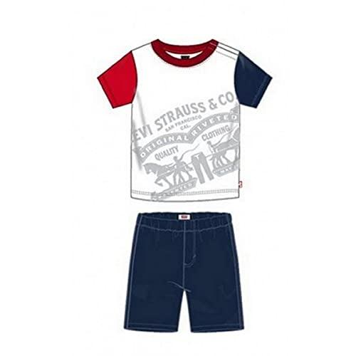 Levi s Kids S2011720 Conjunto, Blanco, 24 Meses Unisex-Child