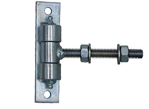 Torband Einstellbar lang M12 M16 M18 M20 Tür Torscharnier Angel kmpl. verzinkt (Torband M12#750-12) UHRIG®