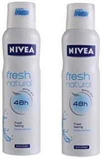 Nivea Fresh Natural Deodorant(150 ml) (Pack of 2)
