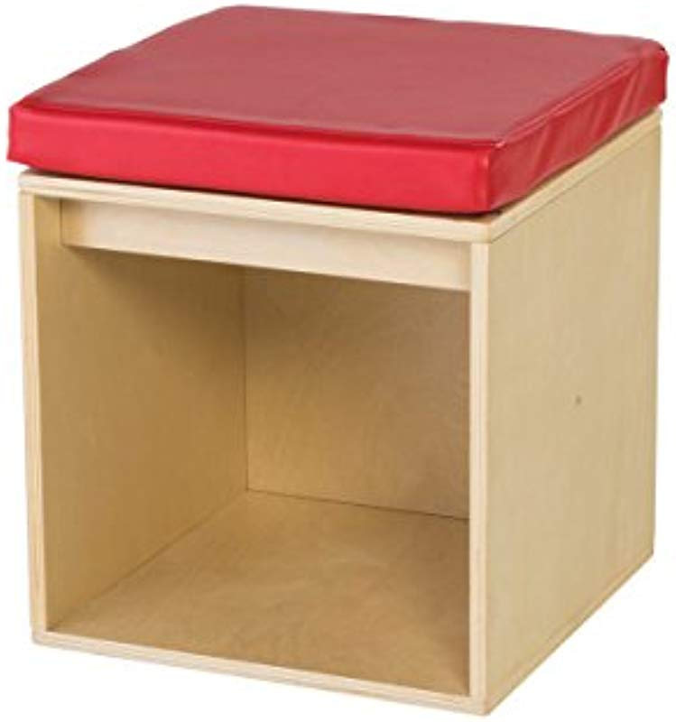 Guidecraft Sit And Store Cube Toddlers Classroom Stool With Storage School Supply Kids Furniture