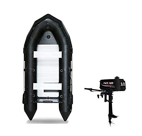 Juego de Kayak Inflable, Kayak para 4 Personas con remos e inflador de Aluminio, Kit de Parches (Negro) 13060 Pulgadas, Kayak y Deportes acuáticos con Motor de Gasolina