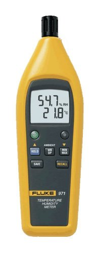 Fluke 971 Temperature Humidity Meter with Backlit Dual Display with a NIST-Traceable Calibration Certificate with Data