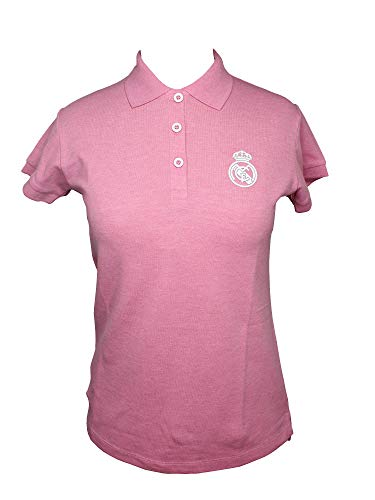 Polo Real Madrid Mujer Rosa/Blanco (XL)