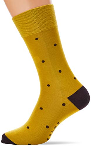 FALKE Herren Dot M SO Socken, Gelb (Deep Yellow 1007), 39-42