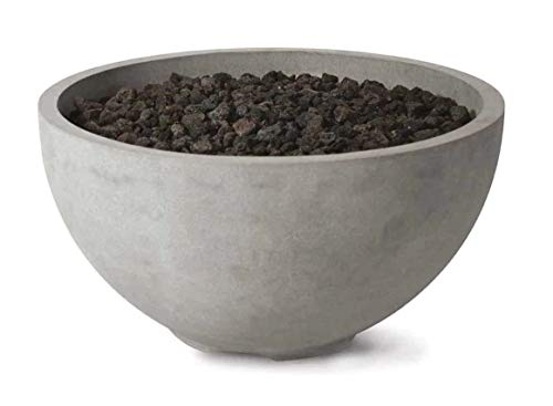 36' Infinite Concrete Fire Bowl Pits | 36.25' Dia x 18.5' H | Liquid Propane (Black Sand Honed) - See Color Chart for Finish
