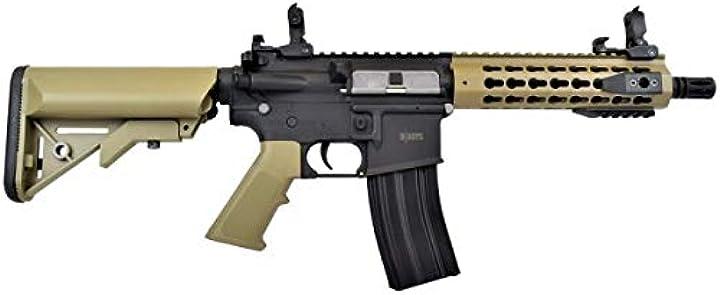 Fucile softair D boys softair 0.9 joule fucile elettrico m4 kmr 8 nero/tan (1281bt) B07RPNSJ4D