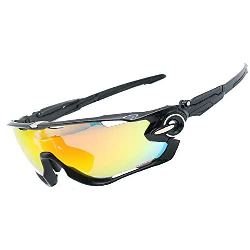 UKKD Gafas De Sol Mujer Gafas De Ciclismo Cuatro Lentes Gafas De Sol Montaña De Viento