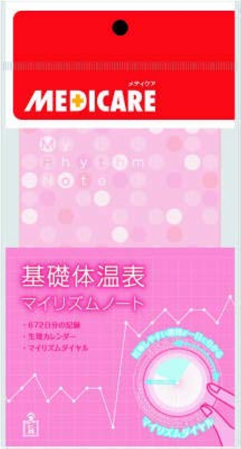 歪める現実的憲法【まとめ買い】メディケア基礎体温表 1冊 ×3個