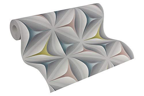 A.S. Création Vliestapete Scandinavian 2 Tapete mit Stern Muster geometrisch grafisch 10,05 m x 0,53 m blau grau rosa Made in Germany 960422 96042-2