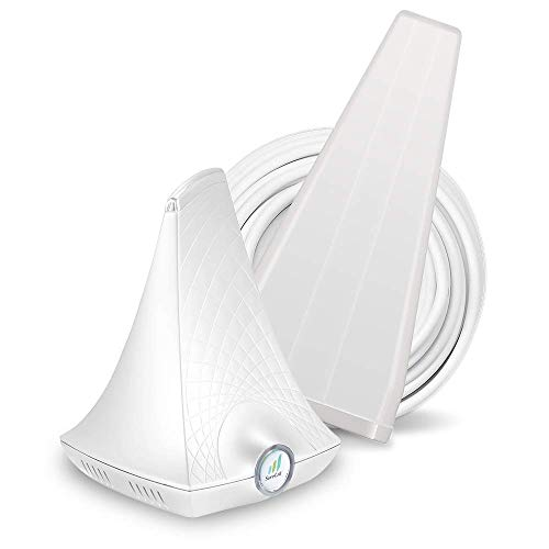 SureCall FlareDB+ Cell Phone Signal Booster for Working from Home   Boosts Verizon, AT&T, T-Mobile   Integrated Indoor Antenna for Easy Install   Covers up to 3500 sq ft, White (SC-FlareDB)