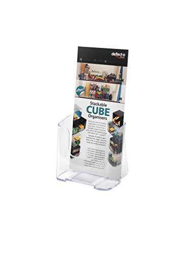 deflecto 77501 DocuHolder for Countertop or Wall Mount Use, 4 1/4w x 3 1/4d x 7 3/4h, Clear
