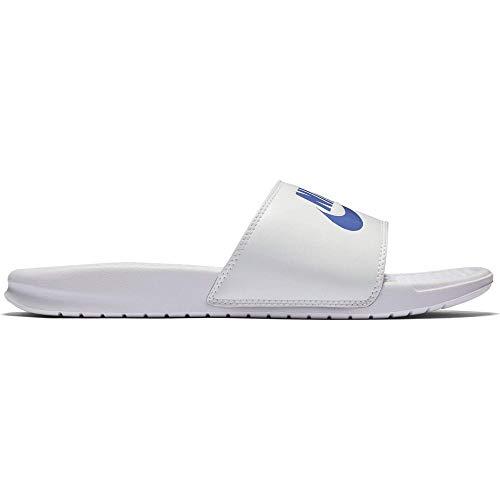 Nike Benassi Just Do It, Ciabatte Uomo, White Varsity Royal White 102, 42.5 EU