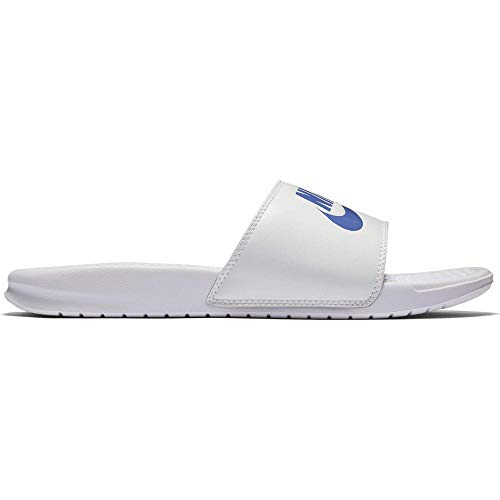 Nike Benassi JDI Slide White/White/Varsity Royal 10 US