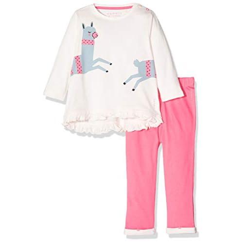 ESPRIT Kids Rp3601109 Set T-Shirt+Pan, Rosa (Tinted Pearl 130), 62 Bimba