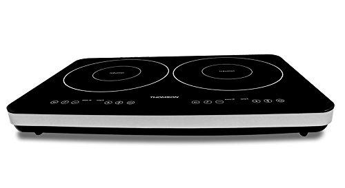 Thomson thhp07310mesa de inducción tostador con 2fuegos negro/plata