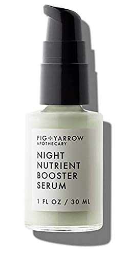FIG+YARROW - Organic Night Nutrients Booster Serum | Non-Toxic, Clean Beauty (1 fl oz | 30 ml)