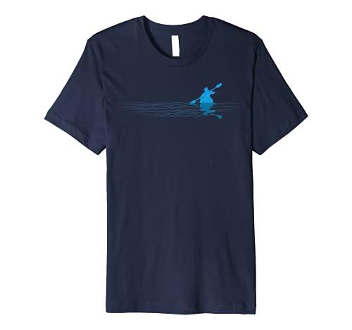 Kayak Love Kayaking Paddle Kayaker Paddling Silhouette Premium T-Shirt