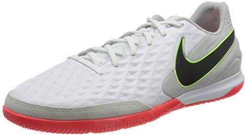 Nike Unisex Tiempo Legend 8 Academy Ic Football Shoe, White Black Grey Fog Bright Crimson Ghost Green, 45 EU