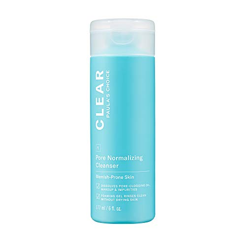 Paula's Choice CLEAR Pore Normalizing Cleanser, Salicylic Acid Acne Face Wash, Redness & Blackheads, 6 Ounce
