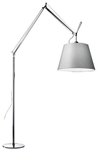 Artemide Tolomeo Mega Stehlampe Terra mit Dimmer 42, Lampenschirm Stoff