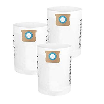 3 Pack Shop Vac Bags 10-14 Gallon Disposable Collection Filter Bags Compatible with Shop-Vac 9066200 10-14 Gallon Type F + Type I Replace Part #90662 90672 White