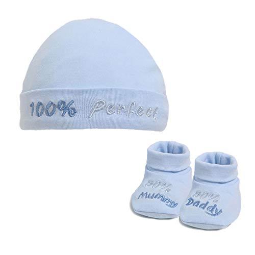 Soft Touch Baby Boys Girls 2 Pc Hat & Bootee Set Gift Set Newborn Kids Hat...