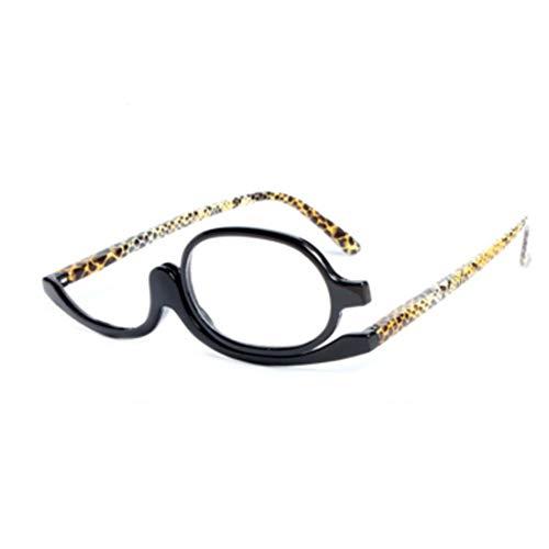 Inlefen lettori ingrandimento Occhiali da trucco ribalta lente pieghevole Da donna Trucco Occhiali da lettura