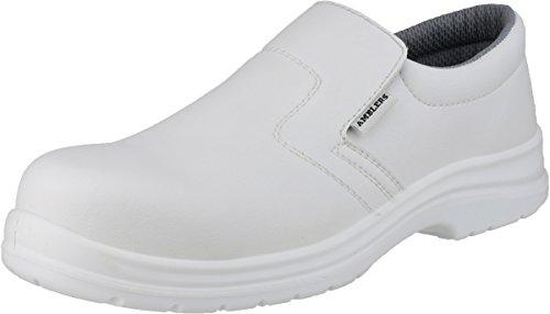 Amblers Safety Herren FS510 Sicherheitsschuh ohne Metall, wasserabweisend, Weiß, Größe 46, 45 EU