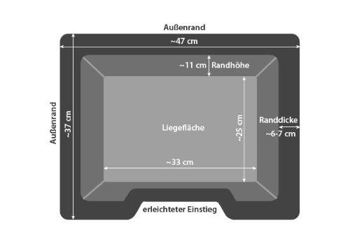 Tierbett Slim S Schwarz ca. 47 x 37 x 11 cm - 5