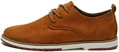 Jiangym Sports Accessories Suede Leather Men Shoes Oxford Casual Classic Sneakers for Male Footwear, Size:44(Black) Sports Accessories (Color : Yellow, Size : 39)