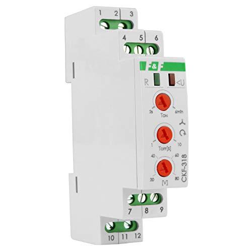 Keenso 3 Phasen /Überwachungsrelais 3 Phasen Spannungs/überwachungsrelais /Überspannungsschutz AC//DC-Spannungs/überwachung f/ür den Phasensequenzschutz GRV8-03 M460