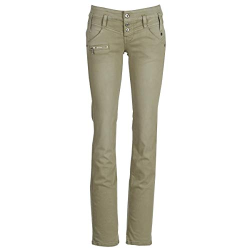 FREEMAN T.PORTER Amelie New Magic Color Pantalones Femmes Kaki - XS - Pantalones con 5 Bolsillos