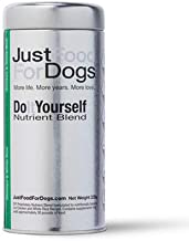 JustFoodForDogs DIY Human Quality Dog Food, Nutrient Blend Base Mix for Dogs - Chicken and White Rice Recipe (225 Grams)