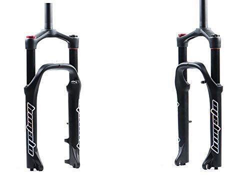LCBYOG Tenedor de Bicicletas MTB Moutain 20inch suspensión de la Bici de Grasa de Bicicletas Tenedor de Gas y Aire de Bloqueo Forks aleación de Aluminio Durante 4,0' de 135 mm Neumático Horquilla MTB