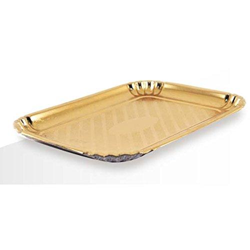 Effe2cart Vassoi in Cartone Colore Oro per Dolci Pasticceria - Conf. 10 kg-