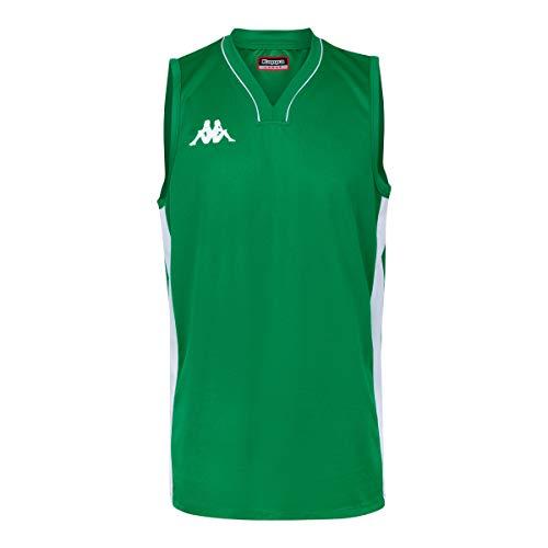 Kappa Cairo Camiseta Baloncesto, Hombre, Verde, S